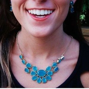 Kate Spade Plaza Athenee Necklace Clear Turquoise